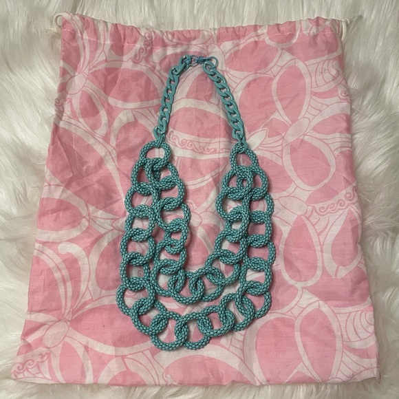 EUC Lilly Pulitzer Double Layer Metal DropNecklace